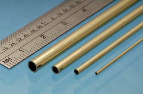 Albion Alloys Brass Micro Tube Round 1.7 mm OD x 1.5 mm ID Pack of 3 MBT17