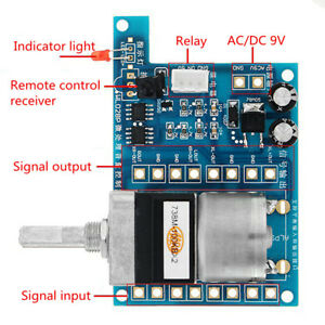 AC-DC-9V-Infrared-Pre-AMP-Audio-Motor-Amplifier-Volume-Remote-Control-Board-Stri