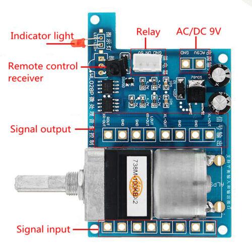 AC//DC 9V Infrared Pre AMP Audio Motor Amplifier Volume Remote Control Board Stri