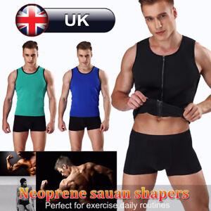 10fdec28df777 UK Body Shaper Hot Thermo Sweat Shapewear Mens Weight Loss Tank Top ...