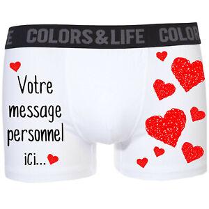 Boxer-calecon-homme-Amour-Coeurs-St-Valentin-personnalise-avec-votre-message