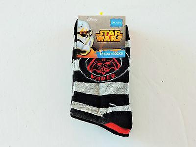The Clone Wars 3 Pack Socks size UK 9-5 Euro 23-38 red Disney Star Wars