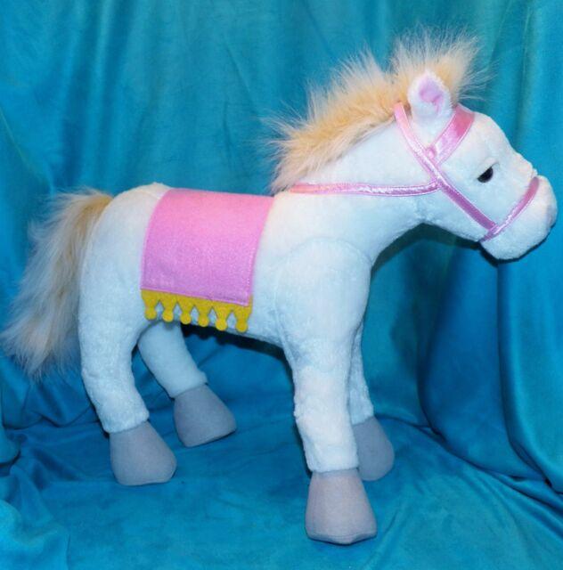 Retired 2008 Pottery Barn Kids White Horse Plush Pink
