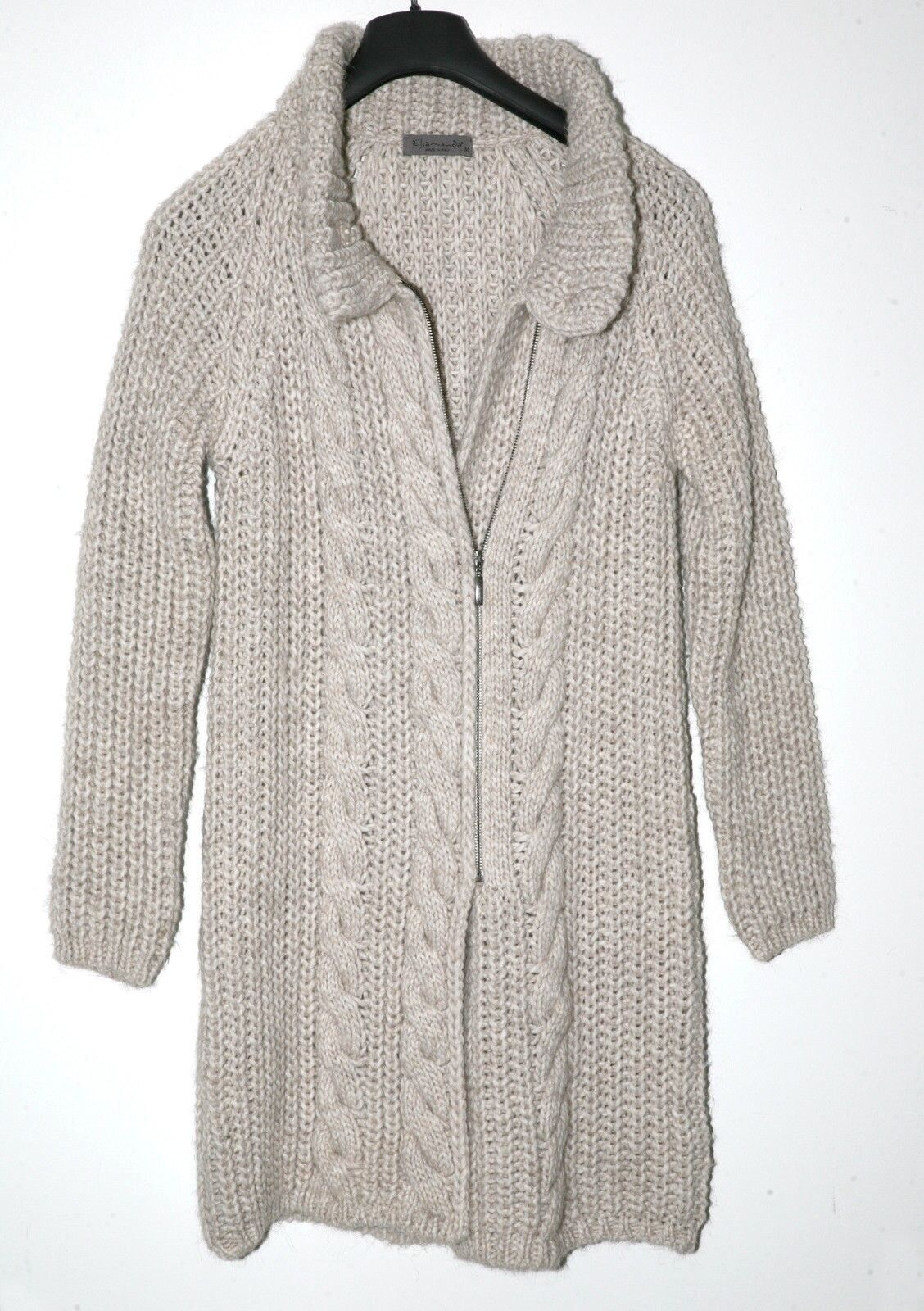 9410b7dcc57 ELSAMANDA WOMENS CARDIGAN SWEATER. SIZE M.. OATMEAL COLOR. FRONT ZIP  npwjgt1443-Sweaters