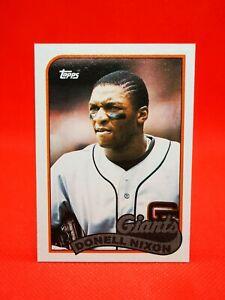 Topps 1989 carte card Baseball MLB NM+/M San Francisco Giants #447 Donell Nixon