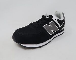 b7a4ace156486 New Balance Big Kids Shoes 574 Suede Black Youth Sneakers #2678 | eBay