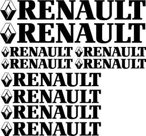RENAULT-decal-graphics-stickers-x10-pieces-New-Style