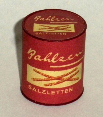 """pretzels! 1:6 large can of German /""""BAHLZEN SALZLETTEN/"""""""