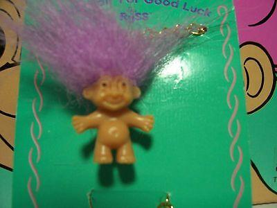 "1/"" Russ Troll Doll CHILDRENS/' TROLL BRACELET NEW ON CARD"