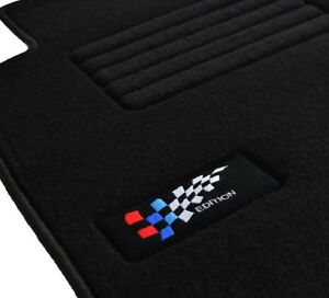 set 4 tapis sol qualit bmw s rie 1 e82 coup velours edition logo brod neufs ebay. Black Bedroom Furniture Sets. Home Design Ideas