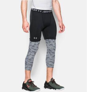 Nwt Mens Under Armour Xc30 3 4 Compression Basketball Leggings Black Xl 1285007 Ebay