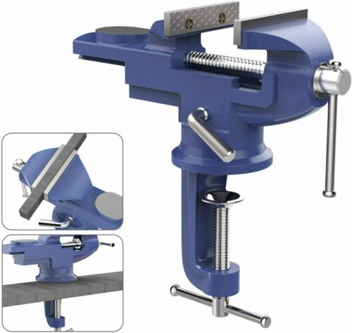 Nuovoware Universal Table Vise w// 360° Rotating Swivel Base Clamp-on Woodworking