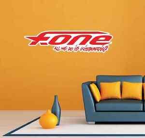 "2 F-One Fone Kiteboarding Kite Red Room Wall Garage Decor Sticker Decal 25""X6"""