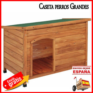 Caseta perros madera 116x82x76 cm Casa para perros grandes fabricada en España