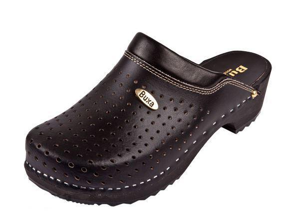 Wooden clogs     Black color   Swedish style .  F11    US shoes Size (Women's)