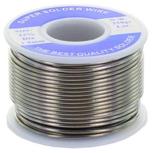 250 gr rocchetto di stagno 33% per saldare saldatore elettrico filo 2 mm