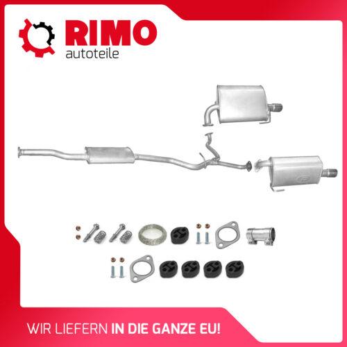 05-09 Auspuff Mittel+Endschalldämpfer Auspuffanlage Subaru Legacy IV 2.0 Kombi