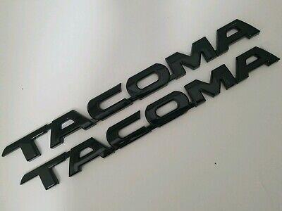 TACOMA Nameplate Letter Badge Sticker Matte Black Black Tacoma Emblem Car Door Tailgate Decal Emblem Sticker Badge Fit for Toyota Tacoma