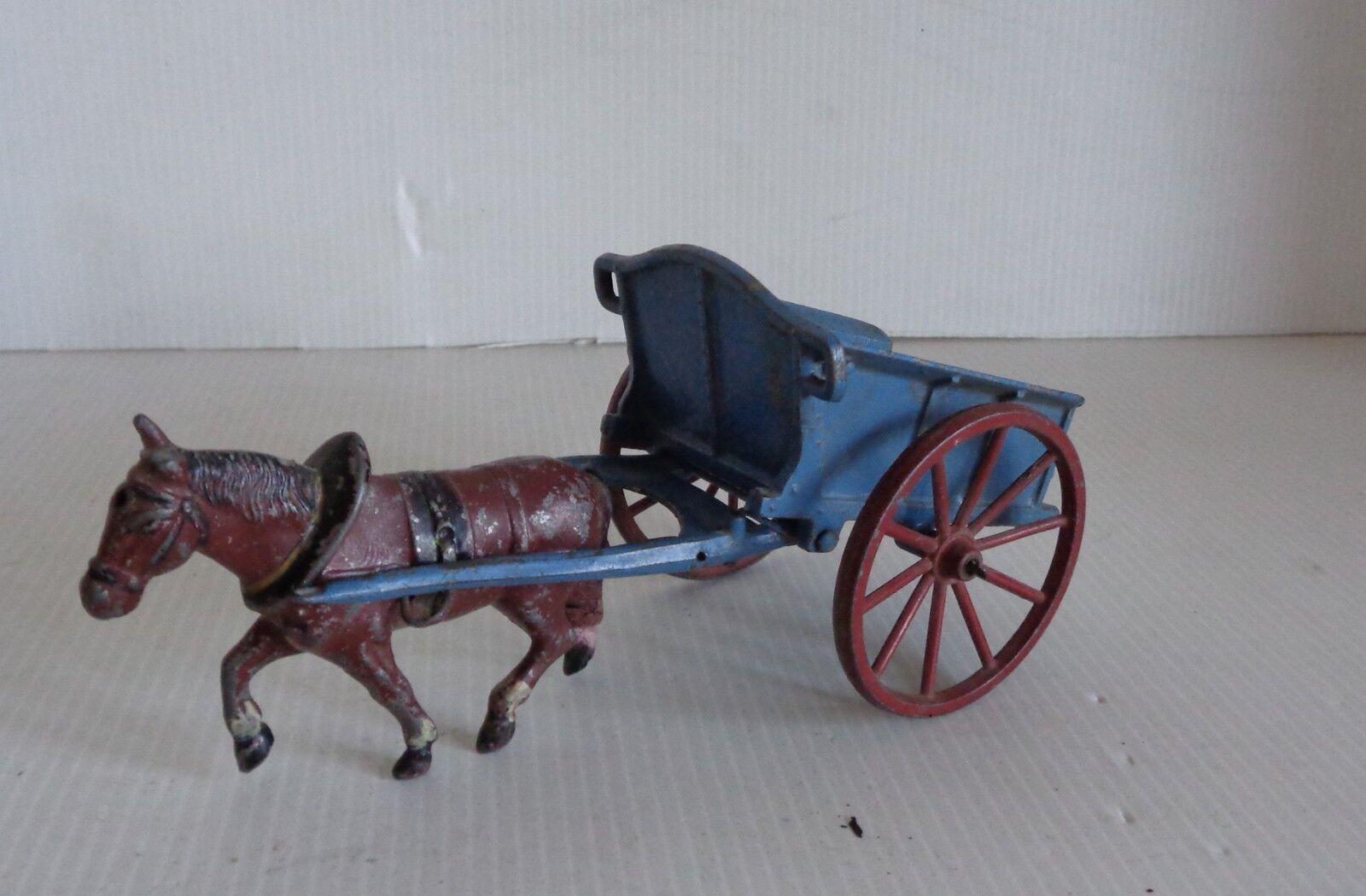 Sr ( Simon y Rivolet) Dumper con Caballo No Quiralu Circa 1940 15cm Plomo