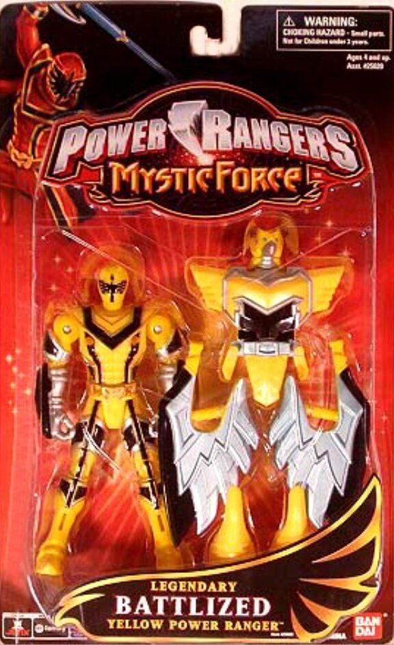 Power rangers mystische kraft legendären 5  battlized gelbe power ranger neue 2006