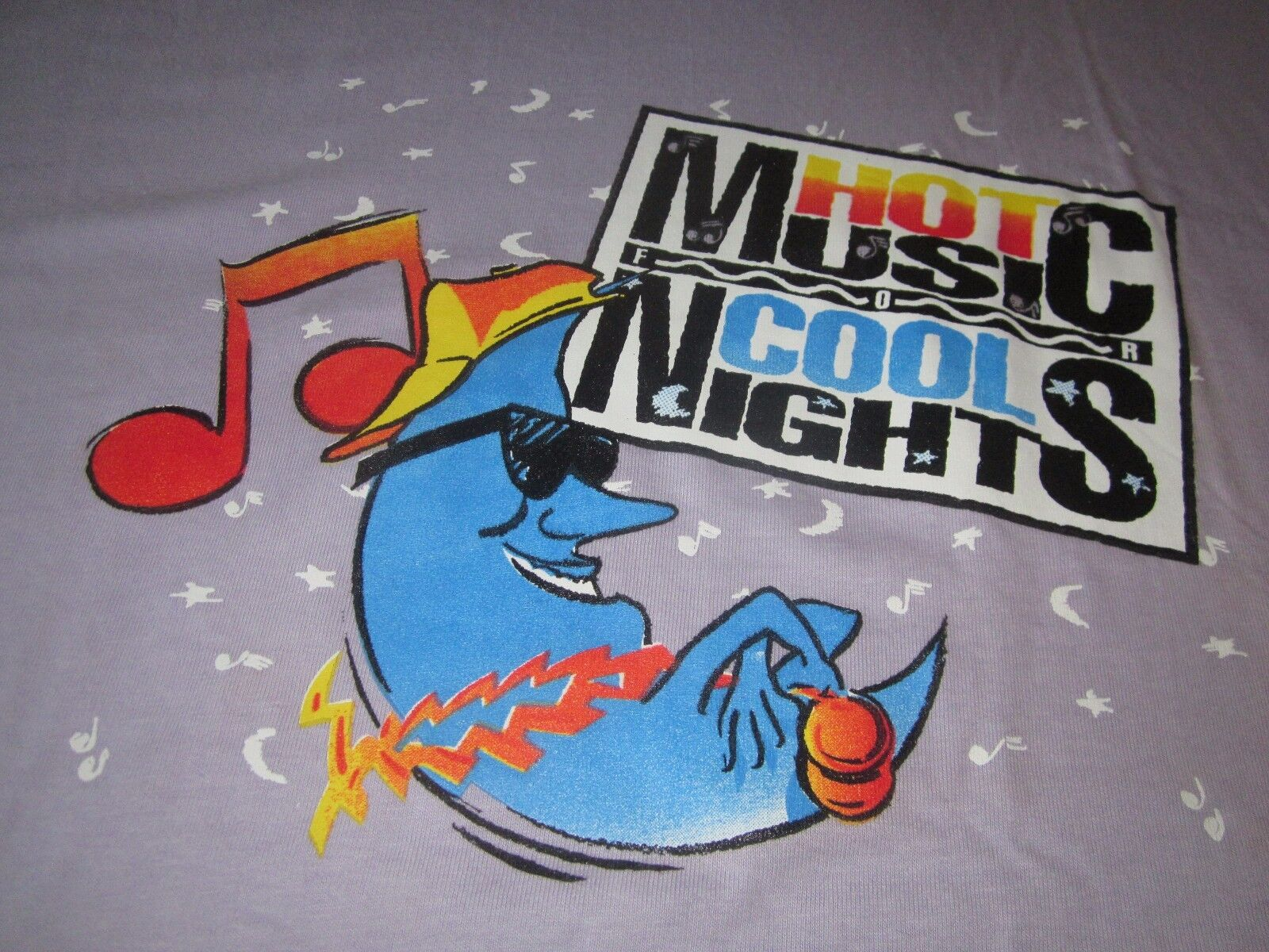 HOT MUSIC COOL NIGHTS VINTAGE 80S CONCERT SHIRT CRY WOLF DAVE KOZ KING TEE HIP