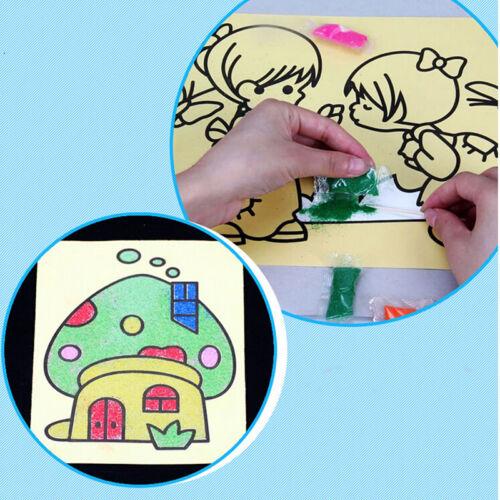 2//5//6//10//15Pcs Sand Painting Cartoon DIY Toys Creative Art Pattern Random MWUK