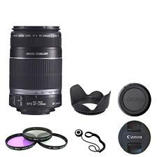 Canon EF-S 55-250mm F4-5.6 IS + Filter Kit, Lens Hood, Cap Kepper Bundle