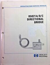 Hp 85021abc Directional Bridge Operating Amp Service Manual Pn 85021 90019