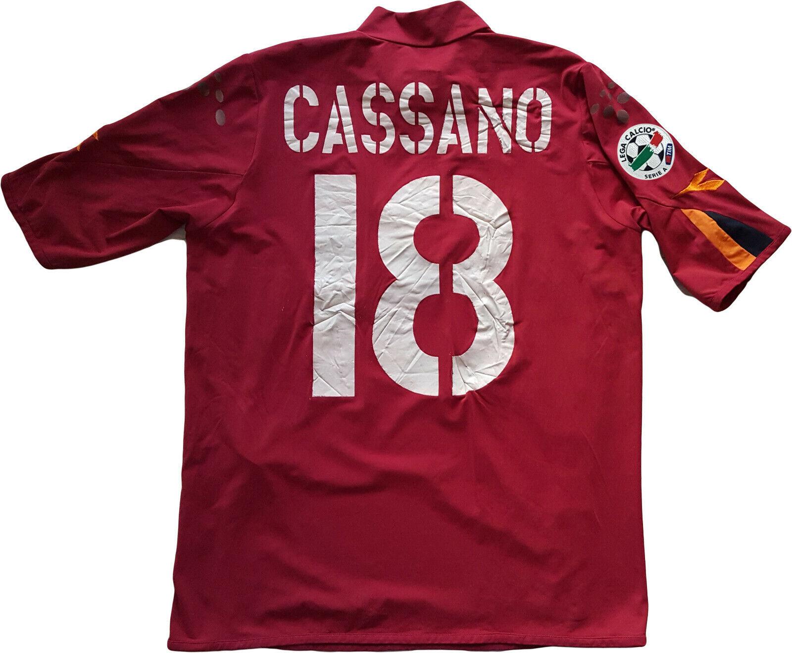 Cassano Roma home jersey 2004 2005 DIADORA L jersey as roma