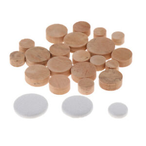 Finest-20Pcs-Oboes-Replacement-Sound-Hole-Cork-Mats-w-3Pcs-Leather-Pads