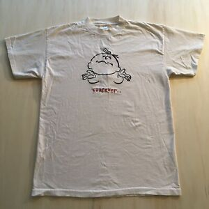 VTG-90s-T-Shirt-Whatever-Mens-Large-Single-Stitch-Streetwear-Murina-Stitched