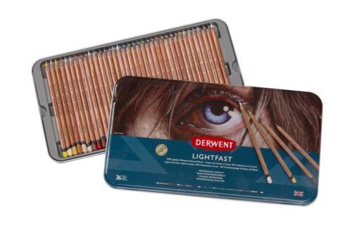 Derwent Lichtecht Profi-Qualität Ölbasis Buntstifte 36 Dose Set
