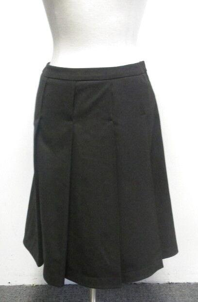 ARMANI NWT  Chocolate Brown Pleated Skirt 42 8 CUTE