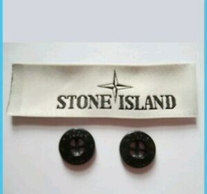 2-Stone-Island-Replacement-Buttons-and-1-Neck-Label-100-Authentic