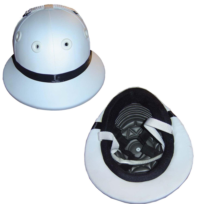 PU Leather Polo Helmet, white color- Ridding helmet, Polo ridding helmet