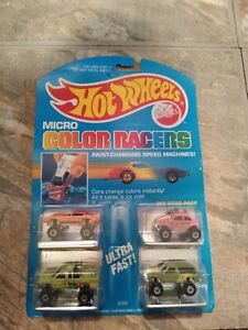 Mattel Hot Wheels Micro Color Racers OFF ROAD PACK #2 MOC 1988