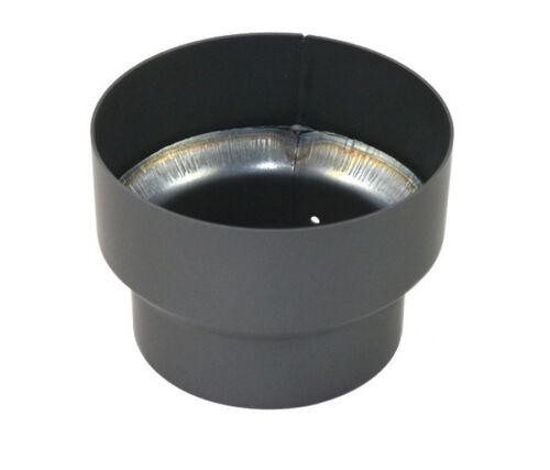 Reducción DN 180 mm a DN 160 mm gris chimenea acero humo tubo horno de tubo nuevo
