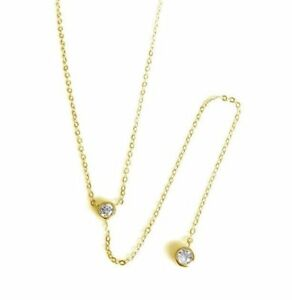 Sterling-Silver-Gold-CZ-Lariat-Necklace