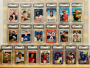 19x-Rookie-RC-Rare-GMA-Graded-Lot-Votto-Bo-Jackson-amp-More-Baseball-Card-NM-MINT