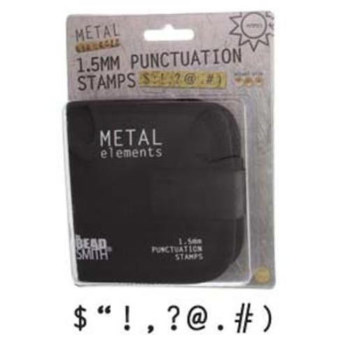 Beadsmith sellos signos de puntuación Metal Estampación Punzones en caso de lona Elegir Talla