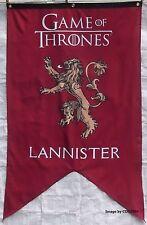 GAME OF THRONES FLAG - LANNISTER LICENSED FAMILY BANNER -LION - RED & GOLD