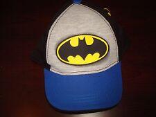 BATMAN BOYS FLANNELL GYM  KIDS  2-5T   CHILDS  ''' TODDLER '' '  HAT CAP