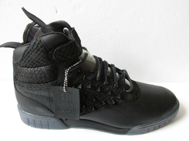 reebok EXO FIT HI CLEAN PM PATRICK MOHR INT mens hi top trainers V61160 sneakers