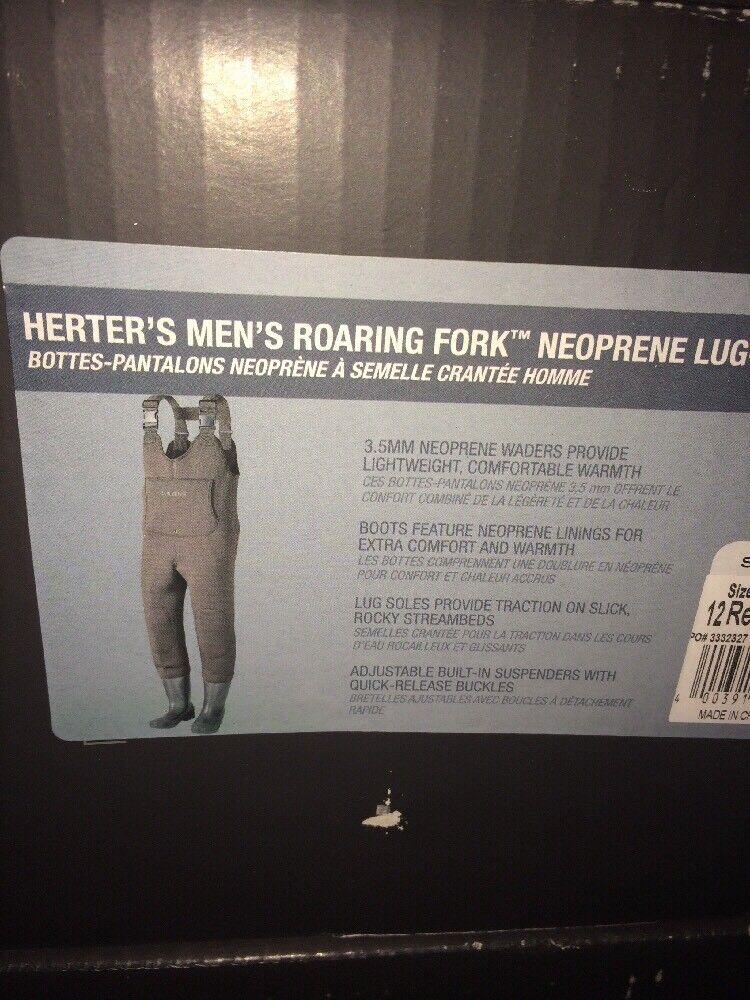 Herter's Roaring Fork Neoprene Lug Sole Waders Sz 8 Men's NIB