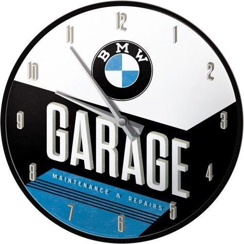 "Horloge murale ""BMW"" NOSTALGIC ART (d31cm)"