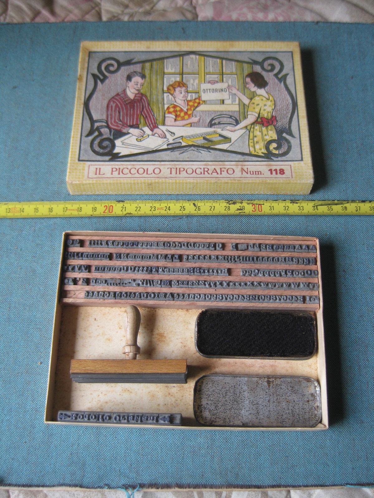 Gioco anni 40 Il piccolo Tipografo