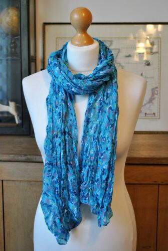 NAVY PINK BLUE RED NEW SMALL FLOWERS SCARF GREY