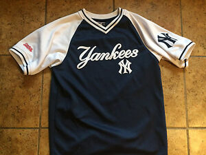 innovative design 834f4 7ee9e Details about New York Yankees Youth Large pullover jersey-like shirt by  Stitches