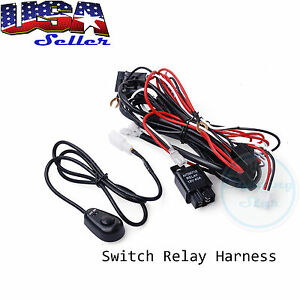 universal fog light wiring harness universal image universal relay harness wire kit led on off switch for fog on universal fog light wiring