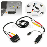 Usb Vhs To Dvd Audio Video Converter Capture Full Scart Kit With Leads&cable